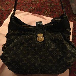 Louis Vuitton black Denim Handbag